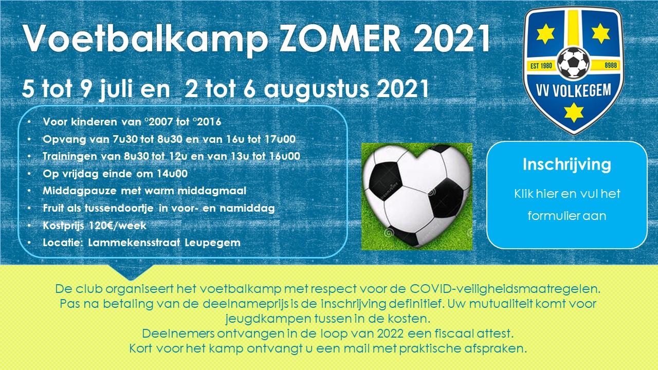Voetbalkamp zomer 2021