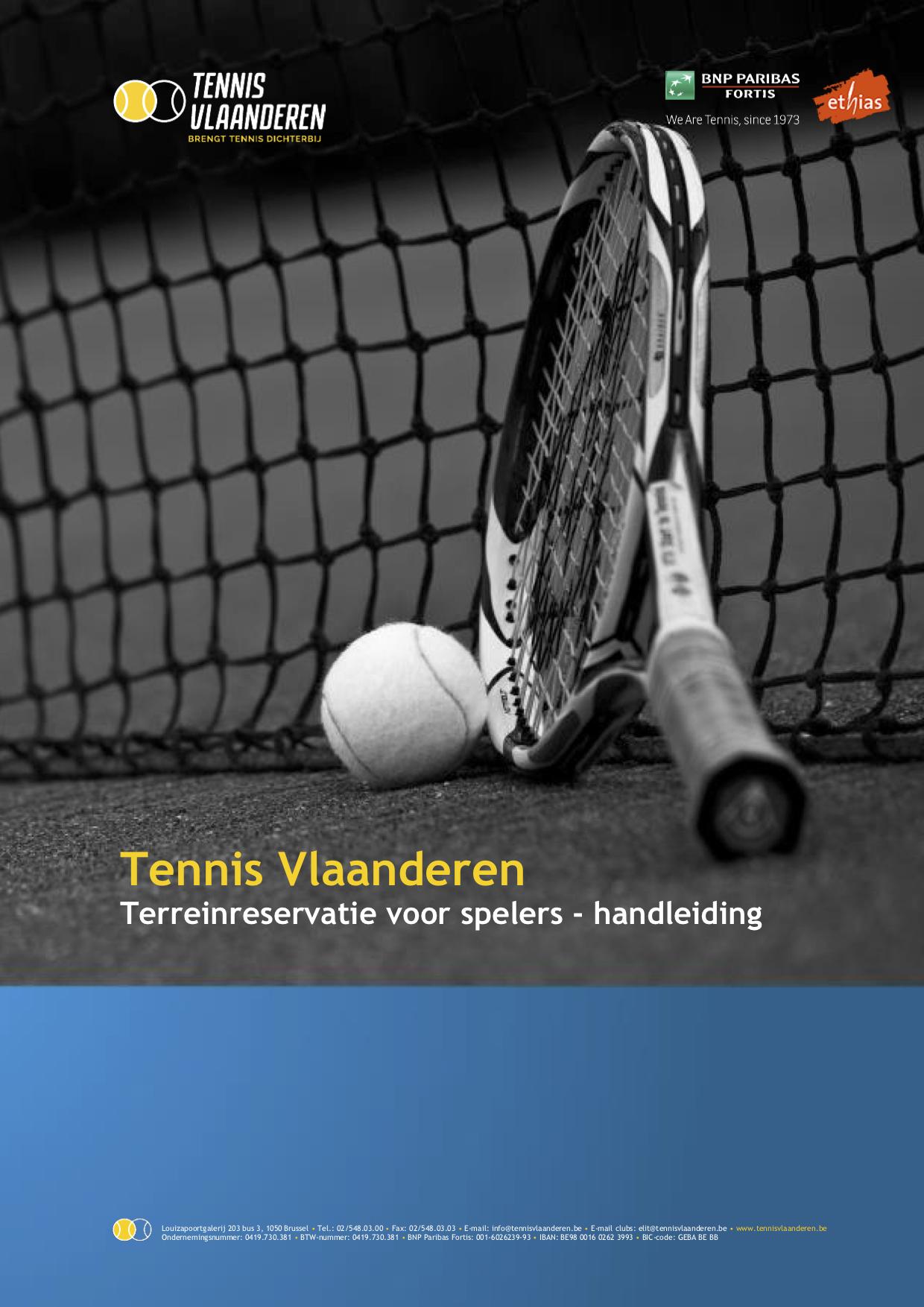 Hoe reserveer in een terrein via de Tennis Vlanderen website ?
